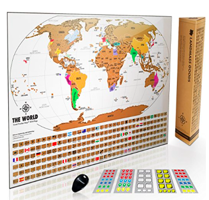World Traveler Scratch Off Map