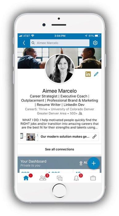 phone-linkedin profile