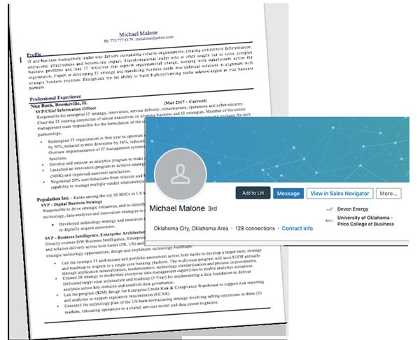 bad resume linkedin profile