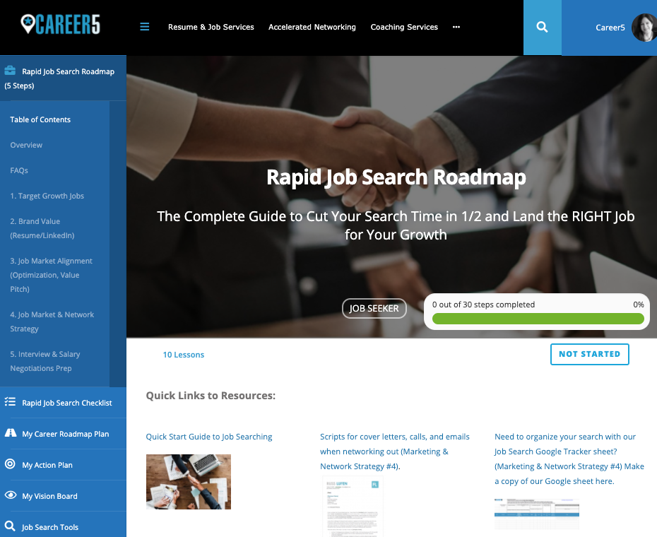 Rapid Job Search Roadmap Course